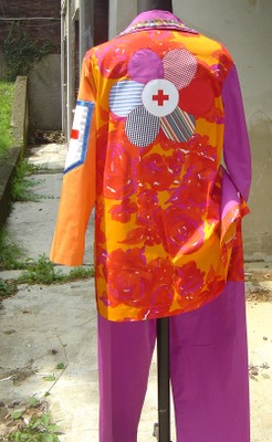 Costume clown 02 retro - small